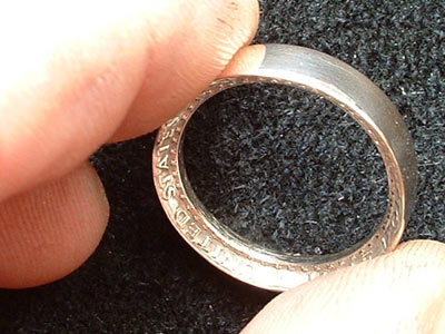 ring made out of a quarter