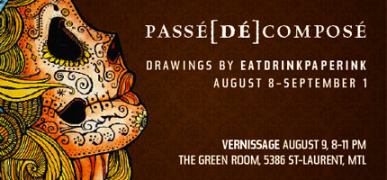 Trevor's new art show - Thursday, August 9 from 8-11 pm at The Green Room